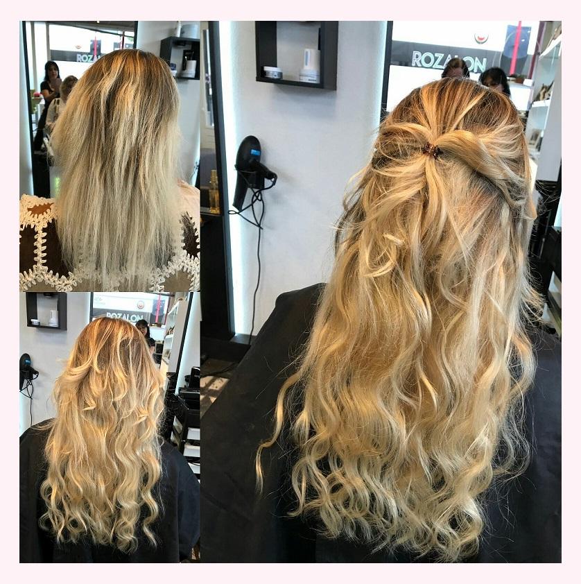 Haar extensions kapsalon Rozalon Hair and Beauty Soest